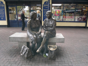 statues of dublin hags with the bags 2