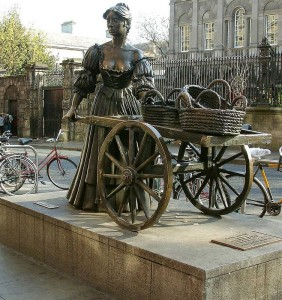 statues of dublin molly malone 1