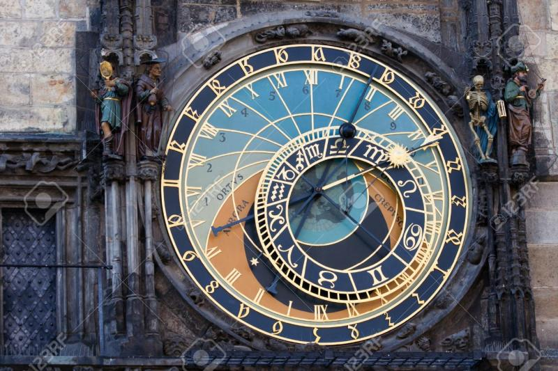 15461190-the-prague-astronomical-clock-or-prague-orloj-the-medieval-astronomical-stock-photo